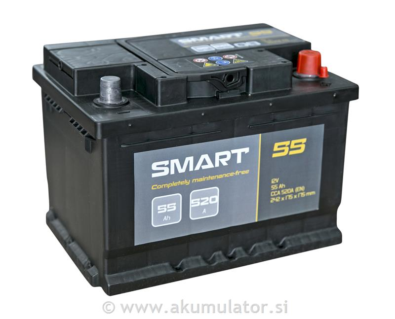 Akumulator Smart 55Ah 520A