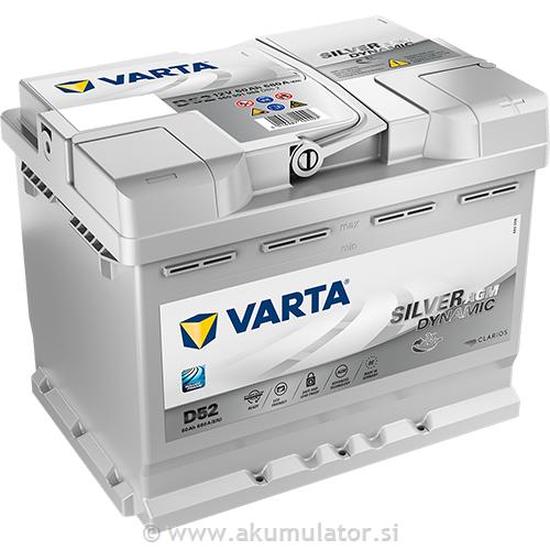 Start & stop akumulator 60Ah AGM Varta - Akumulatorji,baterije,sončne celice