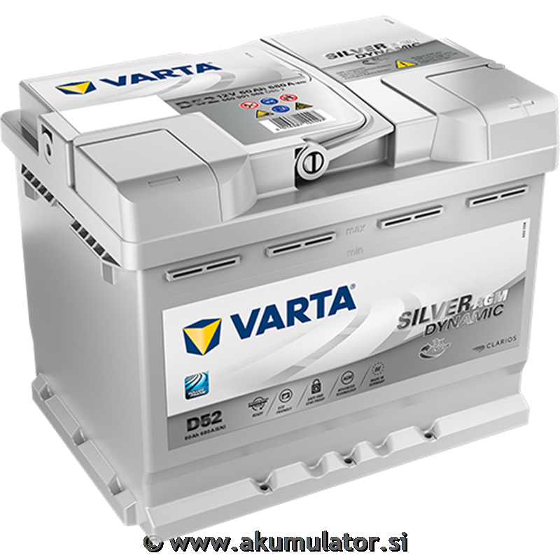 Start & stop akumulator 60Ah AGM Varta