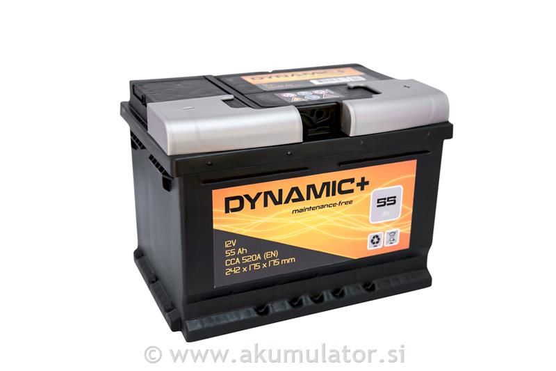 Avto akumulator 55Ah 520A Dynamic Plus