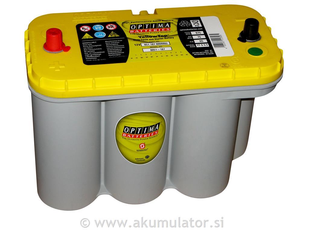 akumulator optima yellow top yts 5 5 75ah akumulatorji. Black Bedroom Furniture Sets. Home Design Ideas