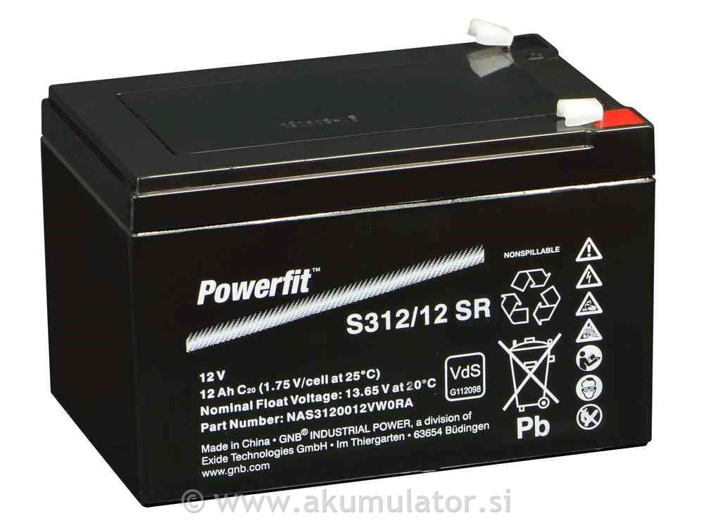 Baterije 12V 12Ah SR Powerfit